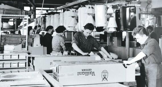 Историческое фото создания продукции Vaillant