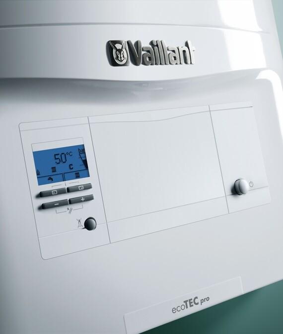 Конденсационный котел ecoTEC pro VUW 236/5-3 - 346/5-3 (23, 28 и 34 кВт.) панель управления